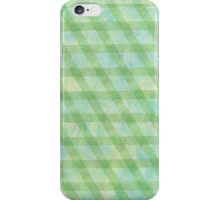Green rhomb tape and water color - OneMandalaAday iPhone Case/Skin