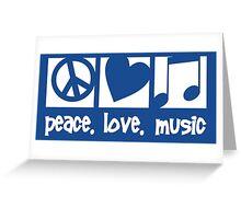 Peace. Love. Music. Greeting Card