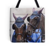 Harness horse pair Bay Tote Bag