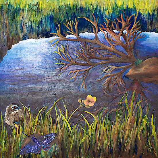 Painted Damn Reflections by MIchelle Thompson