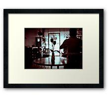 Restaurant table. Framed Print
