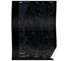 USGS Topo Map Oregon Jubilee Lake 20110816 TM Inverted Poster