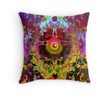 Abstracted flyer Throw Pillow