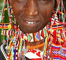 Maasai or Masai Woman, East Africa  by Carole-Anne