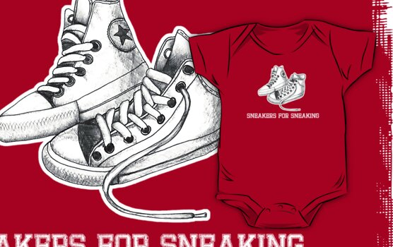 sneakers for sneaking by Rosemary Scott