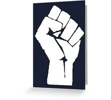 Revolution Fist Greeting Card