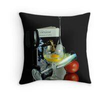 cortazar's breakfast #d Throw Pillow