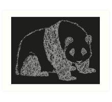 Twisty Twirly Giant Panda - Dark Edition Art Print