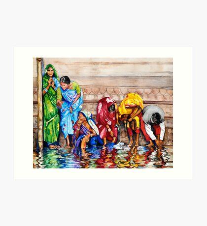 Along the Ganges Art Print