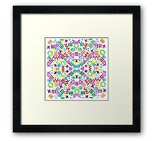90s Design Framed Print