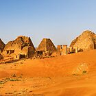 Pyramids of Meroe, Sudan by Clint Burkinshaw