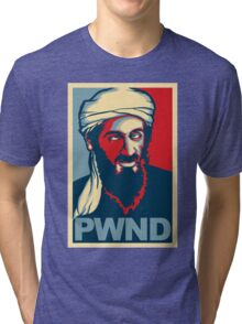 PWND - Osama Bin Laden Tri-blend T-Shirt