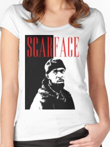 Scarface Little Women's Fitted Scoop T-Shirt