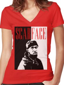 Scarface Little Women's Fitted V-Neck T-Shirt