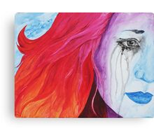 Loosing Color Surreal Rainbow Woman Original Art Canvas Print