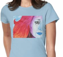 Loosing Color Surreal Rainbow Woman Original Art Womens Fitted T-Shirt