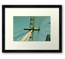 London Eye spokes detail Framed Print