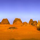 Morning sun of the Meroe Pyramids, Sudan by Clint Burkinshaw