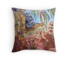 Koala Dreaming Throw Pillow