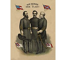 Generals Jackson, Beauregard, and Lee  Photographic Print