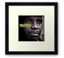 Beautifull Black & White Portrait Homeless Poverty  Framed Print