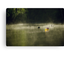 Morning Mist in a Canoe, Karri Valley, Westen Australia Canvas Print