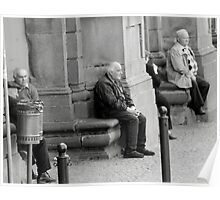 Waiting and Watching-Orvieto, Italy Poster