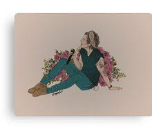 Flowers & Harry Canvas Print