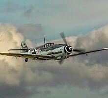 """Messerschmitt Bf109G-4 """"Gustav"""" D-FWME """"Rote Sieben"""" by Colin Smedley"""