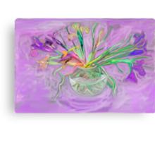 Lavender Orchids Painting Canvas Print