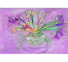 Lavender Orchids Painting Photographic Print