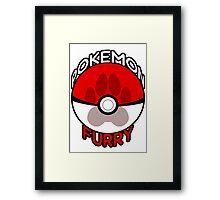 .Pokemon Furry. Framed Print