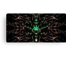 Marijuana Leaf Psychedelic pattern Canvas Print