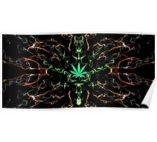 Marijuana Leaf Psychedelic pattern Poster