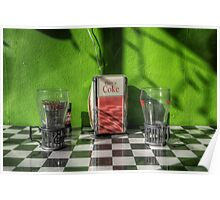 Retro Coke with Lime Poster
