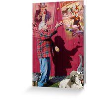 Juggler's shadow Greeting Card