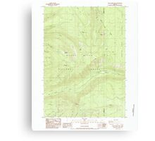 USGS Topo Map Oregon Red Blanket Mountain 281236 1985 24000 Canvas Print