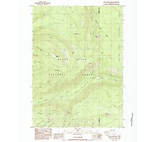 USGS Topo Map Oregon Red Blanket Mountain 281236 1985 24000 Photographic Print