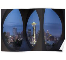 Seattle Skyline At Dawn, #2 Poster