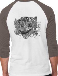 Shroom Imp B&W redone Men's Baseball ¾ T-Shirt
