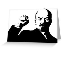 lenin Greeting Card