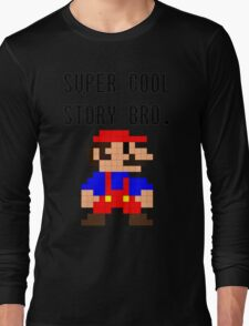 Super Cool Story Bro. (Mario) Long Sleeve T-Shirt