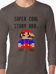 Super Cool Story Bro. (Mario) Long Sleeve T-Shirt