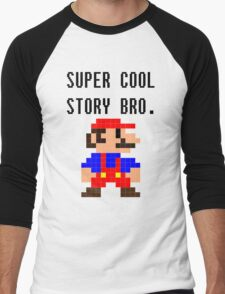 Super Cool Story Bro. (Mario) Men's Baseball ¾ T-Shirt