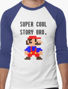 Super Cool Story Bro. (Mario) Men's Baseball ¾ T-Shirt