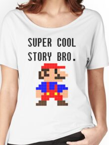 Super Cool Story Bro. (Mario) Women's Relaxed Fit T-Shirt