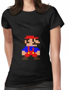 Super Cool Story Bro. (Mario) Womens Fitted T-Shirt