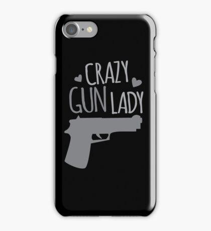 Crazy Gun Lady iPhone Case/Skin