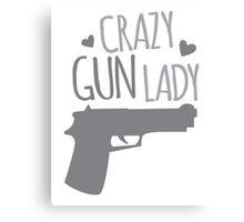 Crazy Gun Lady Canvas Print