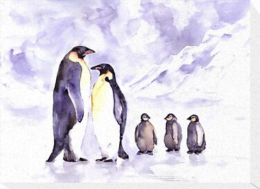 Penguin family by faruk koksal